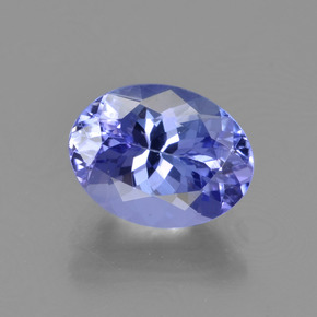 1.7ct Oval Facet Intense Violet Blue Tanzanite Gem (ID: 345734)