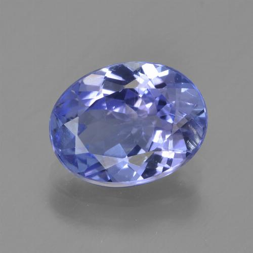1.9ct Oval Facet Intense Violet Blue Tanzanite Gem (ID: 347035)