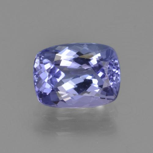 Violet Blue Tanzanite Gem - 1.7ct Cushion-Cut (ID: 347496)