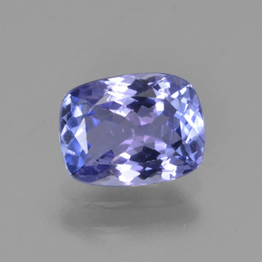 Violet Blue Tanzanite Gem - 1.5ct Cushion-Cut (ID: 347499)