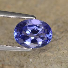 1.4ct Oval Facet Intense Violet Blue Tanzanite Gem (ID: 348059)