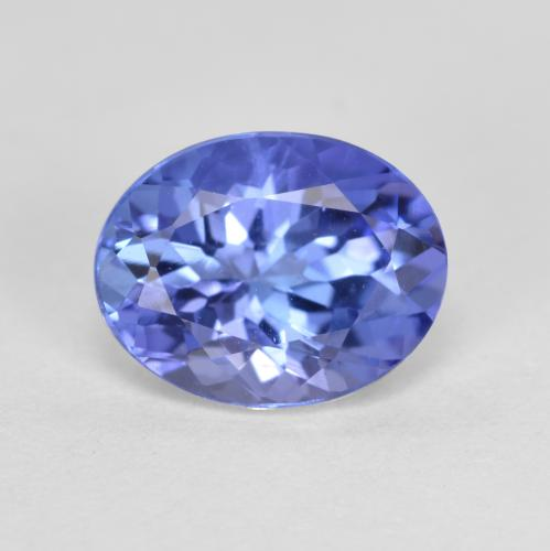 1.4ct Oval Facet Intense Violet Blue Tanzanite Gem (ID: 348069)