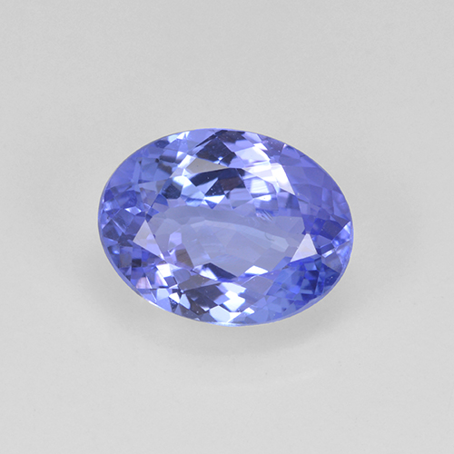 1.9ct Oval Facet Intense Violet Blue Tanzanite Gem (ID: 348155)