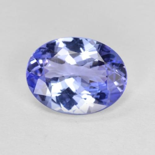 Violet Blue Tanzanite Gem - 1.5ct Oval Facet (ID: 348156)