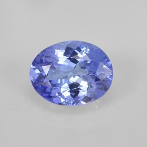 1.8ct Oval Facet Intense Violet Blue Tanzanite Gem (ID: 348158)