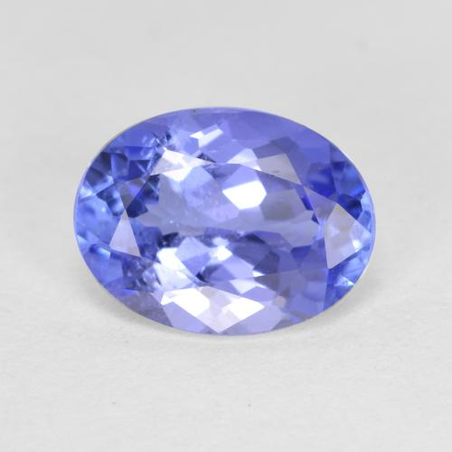 1.5ct Oval Facet Intense Violet Blue Tanzanite Gem (ID: 348159)