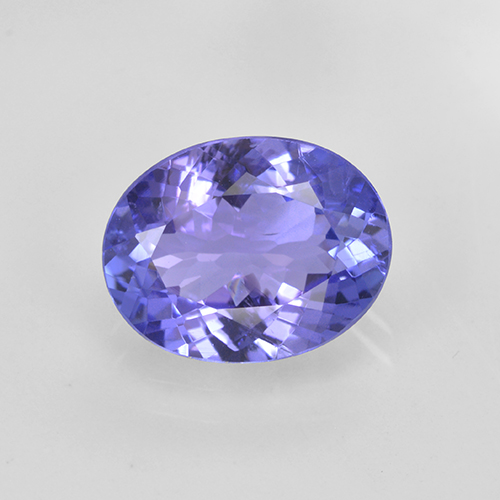 1.8ct Oval Facet Intense Violet Blue Tanzanite Gem (ID: 348161)