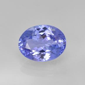 1.9ct Oval Facet Intense Violet Blue Tanzanite Gem (ID: 348166)