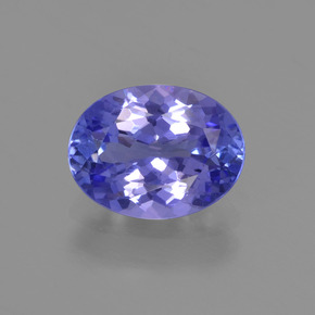 Violet Blue Tanzanite Gem - 1.8ct Oval Facet (ID: 348170)