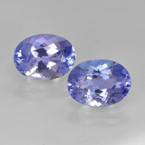 Intense Violet Blue Tanzanite Gem - 1.7ct Oval Facet (ID: 348174)
