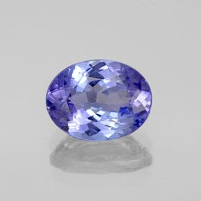 Intense Violet Blue Tanzanite Gem - 2.1ct Ovale sfaccettato (ID: 348181)