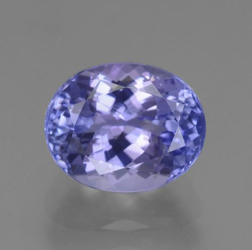 2.5ct Oval Facet Intense Violet Blue Tanzanite Gem (ID: 348183)