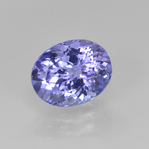 Violet Blue Tanzanite Gem - 2.1ct Oval Facet (ID: 348184)