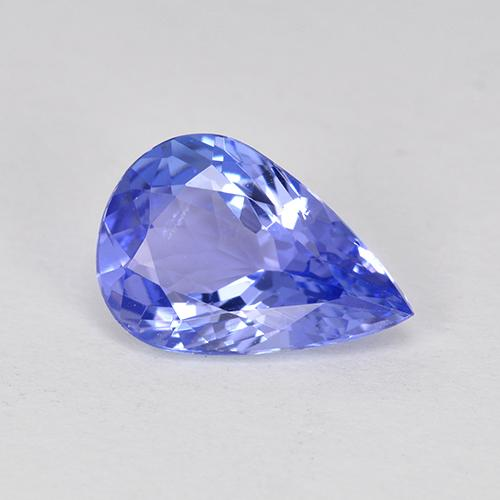 1.75 ct Pear Facet Violet Blue Tanzanite Gemstone 9.99 mm x 6.8 mm (Product ID: 349024)
