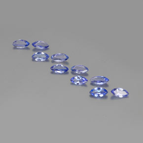 Violet Blue Tanzanite Gem - 0.3ct Marquise Facet (ID: 350369)