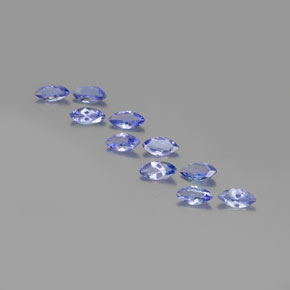 Violet Blue Tanzanite Gem - 0.3ct Marquise Facet (ID: 350372)