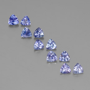 Violet Blue Tanzanite Gem - 0.4ct Trillion Facet (ID: 351186)