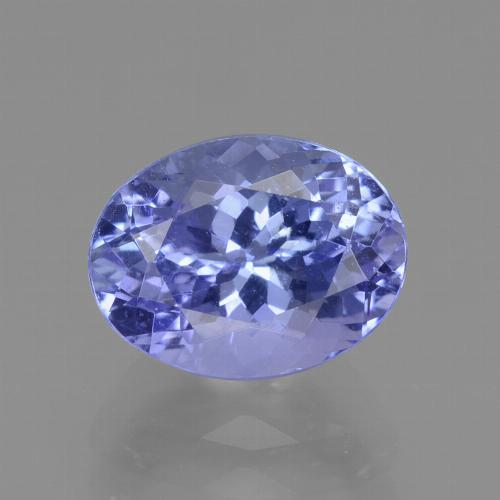 Violet Blue Tanzanite Gem - 2.2ct Oval Facet (ID: 360389)
