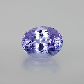2.27 ct Oval Facet Violet Blue Tanzanite Gemstone 9.15 mm x 7.1 mm (Product ID: 360390)