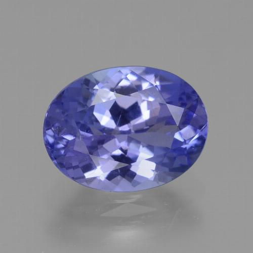 Intense Violet Blue Tanzanite Gem - 1.9ct Ovale sfaccettato (ID: 360444)