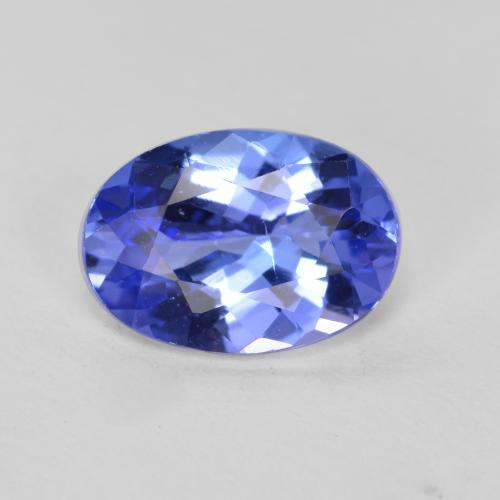 1.3ct Oval Facet Intense Violet Blue Tanzanite Gem (ID: 360451)