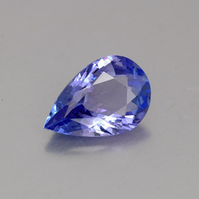 1.3ct Pear Facet Intense Violet Blue Tanzanite Gem (ID: 360668)