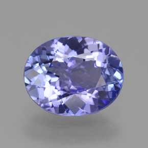1.6ct Oval Facet Intense Violet Blue Tanzanite Gem (ID: 361635)