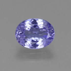 Violet Blue Tanzanite Gem - 1.8ct Oval Facet (ID: 361646)