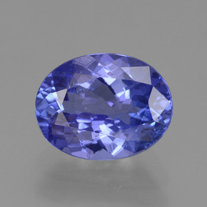 Violet Blue Tanzanite Gem - 2.1ct Oval Facet (ID: 361666)