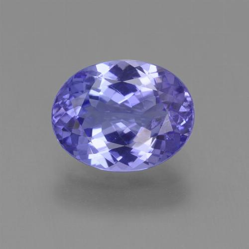 Violet Blue Tanzanite Gem - 2.1ct Oval Facet (ID: 361667)