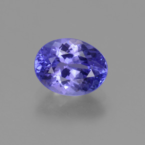 Intense Violet Blue Tanzanite Gem - 1.5ct Oval Facet (ID: 374293)