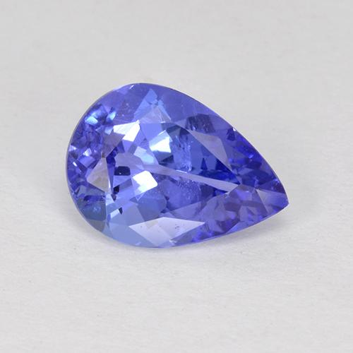Violet Blue Tanzanite Gem - 1ct Pear Facet (ID: 375004)