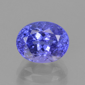 2.6ct Oval Facet Intense Violet Blue Tanzanite Gem (ID: 375586)