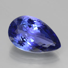 11.45 ct Pear Facet Violet Blue Tanzanite Gemstone 18.57 mm x 11.7 mm (Product ID: 378196)