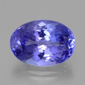 10.52 ct Oval Facet Violet Blue Tanzanite Gemstone 16.37 mm x 11.6 mm (Product ID: 378198)