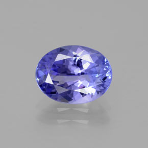 1.9ct Oval Facet Intense Violet Blue Tanzanite Gem (ID: 382026)