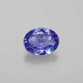 1.4ct Oval Facet Violet Blue Tanzanite Gem (ID: 382083)