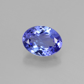 1.4ct Oval Facet Deep Violet Blue Tanzanite Gem (ID: 398608)