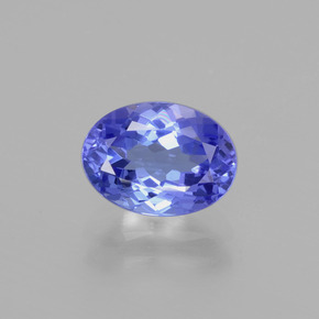 1.8ct Oval Facet Deep Violet Blue Tanzanite Gem (ID: 398609)