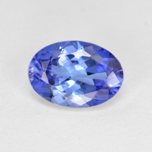 Violet Blue Tanzanite Gem - 1.4ct Oval Facet (ID: 398615)