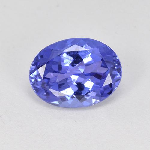 1.73 ct Oval Facet Violet Blue Tanzanite Gemstone 8.56 mm x 6.4 mm (Product ID: 398616)