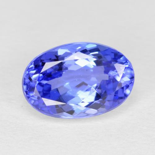 Intense Violet Blue Tanzanite Gem - 1.2ct Oval Facet (ID: 398655)