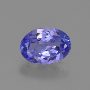 1.1ct Oval Facet Intense Violet Blue Tanzanite Gem (ID: 398657)