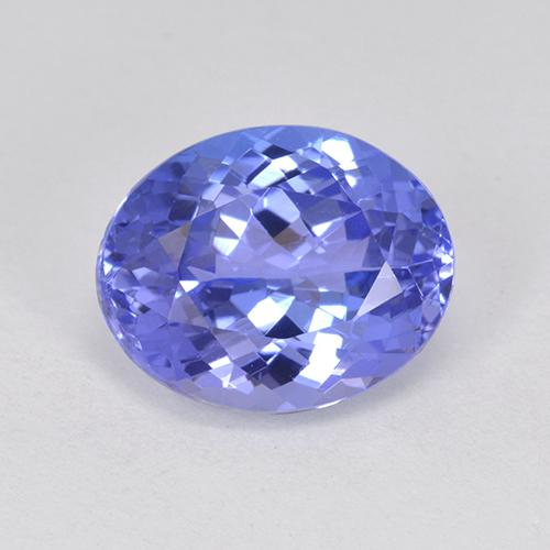3ct Oval Facet Intense Violet Blue Tanzanite Gem (ID: 398684)