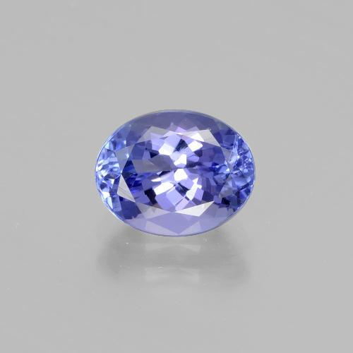 2.5ct Oval Facet Intense Violet Blue Tanzanite Gem (ID: 398689)