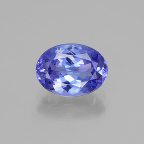 2.6ct Oval Facet Deep Violet Blue Tanzanite Gem (ID: 398691)