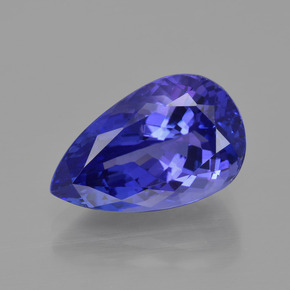 6.93 ct Pear Facet Violet Blue Tanzanite Gemstone 14.72 mm x 9.2 mm (Product ID: 400904)