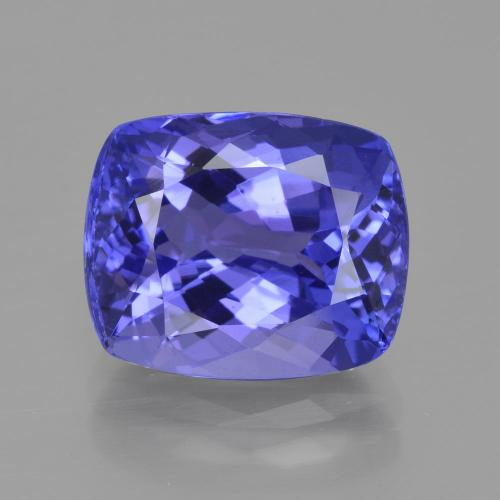 Violet Blue Tanzanite Gem - 6.9ct Cushion-Cut (ID: 400905)