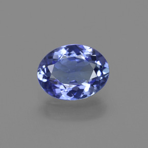 1.2ct Oval Facet Medium Navy Blue Tanzanite Gem (ID: 411216)