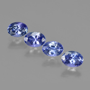 Violet Blue Tanzanite Gem - 0.8ct Oval Facet (ID: 411227)